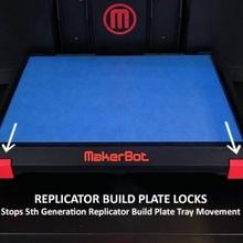 5th generation replicator build plate locks build 3d printer print easy lock makerbot plate reprap build  3d printer replicator 3d printer parts modification locks 5th 5th generation quality generation 5greplicator buildplate