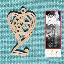 personalised voronoi heart earring jewellery heart voronoi earring personalized personalised