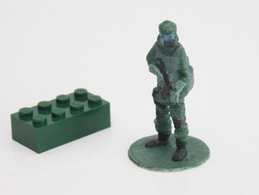 gas mask soldier stand tabletop army soldier miniature supportless sculptris support 123d catch ak74u gas mask