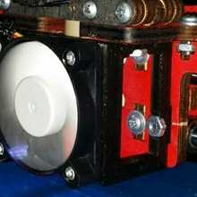 printrbot lc lc+ fan mount build 3d printer printrbot printrbot printrbot lc printrbot upgrade