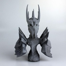 sauron fan art busto film ritratto scultura lowpoly lordoftherings sauron thelordoftherings