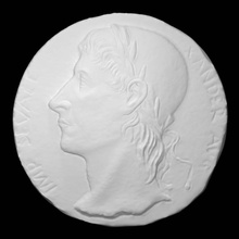 medalhão retrato imperador alessandro Severus Varredura homem medalhão