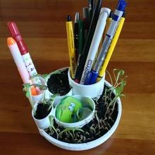 planta maceta bolígrafo soporte jardín tinkercad myminifactory madeintinkercad bq 3d tinkercad