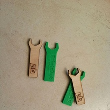 17 mm clé printrbot Facile métal étalonnage construire 3d imprimante métal Facile bois clé printrbot 1577 dftba 17 mm remplacement