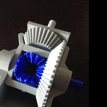 diferencial engranaje educación mecánico modelo juguete engranaje diferencial