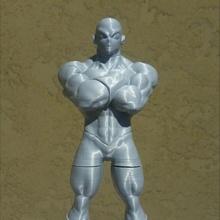 dragon ball super - jiren figure fan art art ball dragon figure statue super  jiren toppo