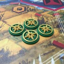 guadaña encuentro tokens tablero juegos juego mesa