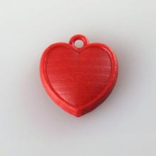 puffy pingente coração jóias resina concorrência b9 valentines day