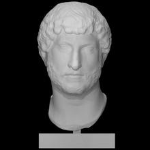 Adriano scansione fallimento testa ritratto