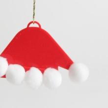 santa claus cappello ornamento giardino Natale cappello decorazione ornamento santa albero vacanze jingle Babbo Natale