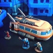 spazio autobus 15 mm scala tavolo fantasia futuro gioco giochi miniature modello rpg spazio navicella spaziale giocattolo giochi guerra wargaming autobus miniatura navetta scifi viandante tavolo nave stellare Space Shuttle gioco guerra