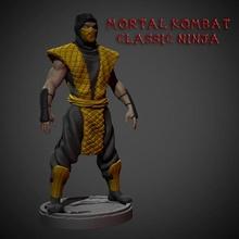 mortale kombat classico ninja fan arte ninja rettile scorpione scultura giocattoli zbrush carattere scolpire fan art mortale kombat zero Ermac fatalità