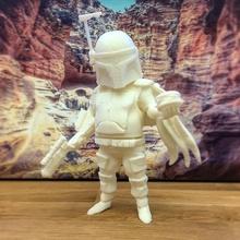 boba gordura ventilador arte modelo Guerra Estrelas figura ação Caçador Recompensa Admirador arte bobafett boba fett