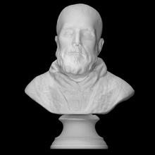 bust st philip neri scan 3d printable bust face head portrait sculpture statue marble st philip neri