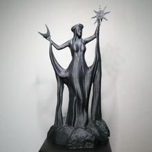 Azura's santuario ventilador Arte decoración juego azar Dios diosa escultura estatua deidad skyrim olvido elderscrolls arte fan amanecer santuario daedra pergaminos Azura oscuridad Morrowind