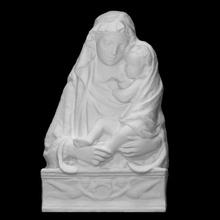 vierge enfant analyse 3d imprimable bébé Jésus sculpture statue enfant Florence religieux Marie Christ vierge stuc Renaissance