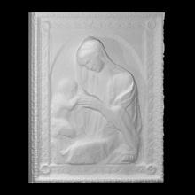 vierge enfant analyse bébé Jésus sculpture enfant marbre Madone religieux Marie soulagement vierge béni