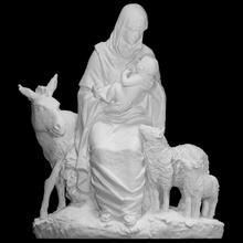 Navidad escanear Navidad Burro Jesús escultura oveja María natividad grupo