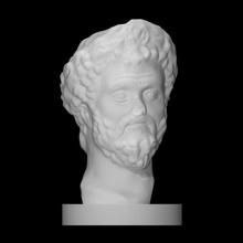 cabeça imperador septimius Severus Varredura fracasso cara cabeça homem retrato romano barba mármore imperador septimius Severus