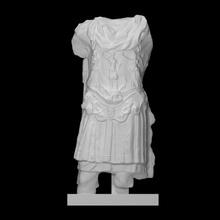 blindato statua scansione armatura romano statua marmo imperatore torso pneumatico Adriano blindato