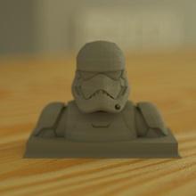 storm trooper bust fan art bust dark fantasy film game helmet jedi movie star starwars trooper sla storm scifi wars