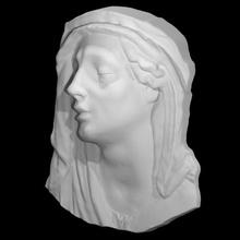 madona addolorata Varredura cabeça escultura madona terracota policromado mortadela anna morandi manzolini