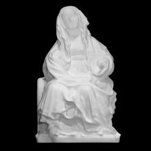 in trono vergine scansione cristianesimo scultura religione Tedesco dipinto Maria vergine full figure in trono bohémien