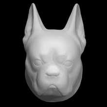 baş bulldog taramak köpek baş heykel Fransızca bulldog Hilbert