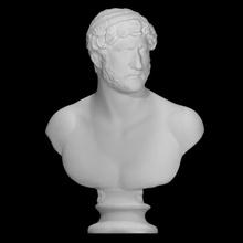 ritratto imperatore Adriano scansione fallimento capo romano scultura marmo imperatore maschio nudo Adriano