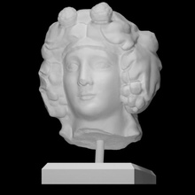 cabeça Dionísio Varredura Deus cabeça escultura adoração mármore Dionísio