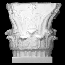 corintio capital escanear decorativo casa helenístico caliza alivio capital pórtico arquitectura