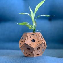 rústico estrella florero Arte cesta envase matemáticas organizador maceta florero plantador dodecaedro decoración topología estrellado truncado