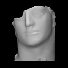 Centurione Scan Kopf Porträt Skulptur Bronze abstrakt