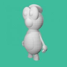 ralph mostro cappello bambini carina uovo figura figurina Halloween ragazzi mostro statua giocattolo compagno gioventù Mike letto ragazzo amico guardaroba tinkercad adorabile boo ralph Grasso bambino piccolo