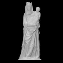 vierge enfant fragment analyse bébé sculpture femelle Jésus sculpture statue enfant Christ vierge noyer