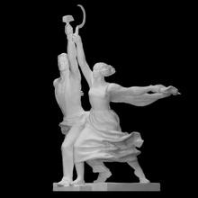 lavoratore kolkhoz donna scansione figura uomo scultura statua simbolo donna martello falce acciaio sovietico urss kolkhoz lavoratore monumentale socialismo