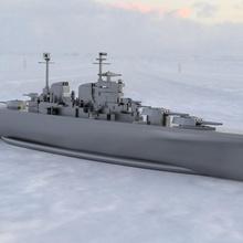 progetto 82 incrociatore battaglia Stalingrad stampabile negozio corazzata nave guerra incrociatore battaglia
