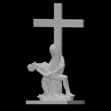 vierge morte Christ Pieta analyse sculpture christianisme traverser figure Jésus homme sculpture femme culte religion église scène morte assise Marie Christ vierge quai