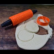 biscotto modello rullo geometria design 3 giardino biscotto Fai regalo modello giocare rullo vacanza argilla rilievo playdoh Impasto infornare Pasticcino