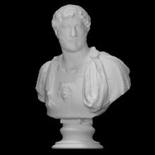 fallimento Adriano scansione antico fallimento viso ritratto barba imperatore maschio Adriano corazza riccioli