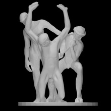 etcetera Varredura corpo figura homem escultura estátua masculino nu plinto resumo braços Charlie eco ajoelhado etcetera tango