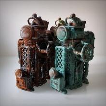 steampunk transporteur boîte jardin boîte transporteur récipient machine espace rangement steampunk dieselpunk