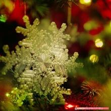 vero fiocco neve Natale albero decorazione taglia 128mm giardino Natale paralume lampadina decorazione lampada lanterna guidato luce ornamento albero Natale vacanze arredamento litofania colorato ornamento natale