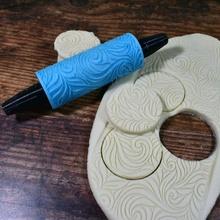 goffrato ornato rullo modello 01 giardino Natale biscotto Fai regalo modello natale rullo vacanza goffrato rilievo Pasticcino impronta