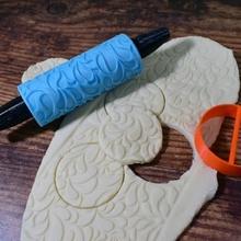 goffrato ornato rullo modello 02 giardino Natale biscotto modello natale rullo rilievo Pasticcino ornato impronta