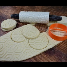 biscoito padronizar rolo geometria Projeto 02 jardim Natal biscoito faça presente Toque natal rolo argila relevo massa assar pastelaria
