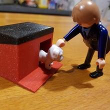 niche pour petit chien toys & games creation original  chat meuble chien playmobil maison imprimante3d niche objet fixmytoy chiot petit