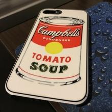iphone 7 teléfono caso funda Campbell 39 s tomate sopa artilugio electrónica carcasa telefono iphone7plus adversidad campbells