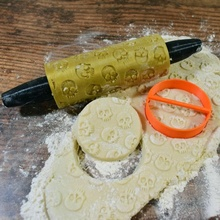 caveiras gravado rolo padronizar jardim osso biscoito cozinhando faça presente Bruxas padronizar PIN crânio ferramenta rolo rolando feriado argila relevo assar pastelaria