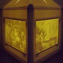 Nativité lanterne Noël bébé décoration Jésus Hommes lithophane maria sage joseph nativité